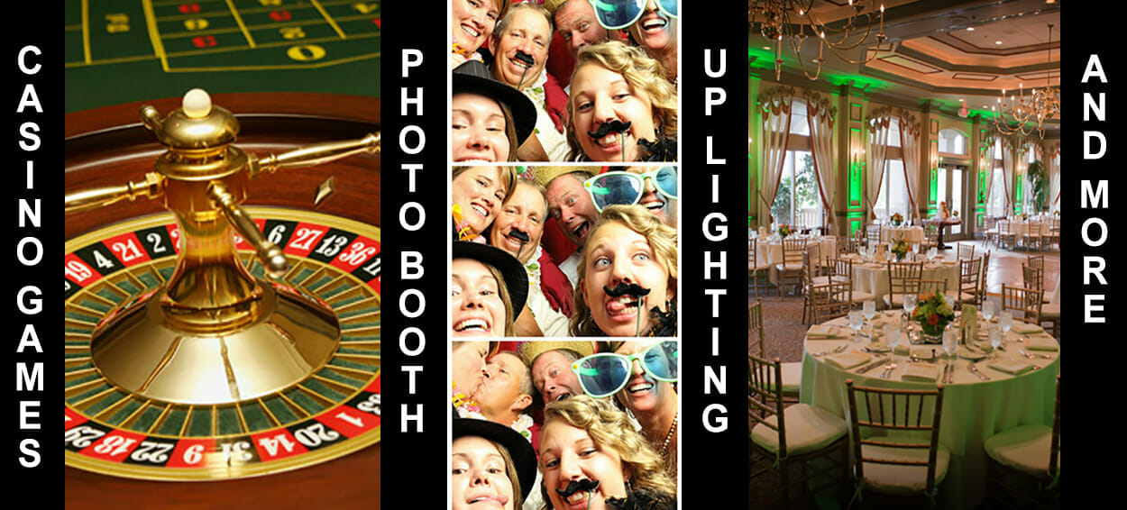 Casino Games – Photo Booth – Up lighting