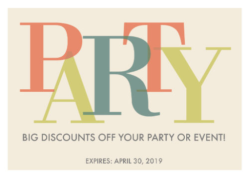 Party DJs discount for your event. Don't miss out on this great deal.